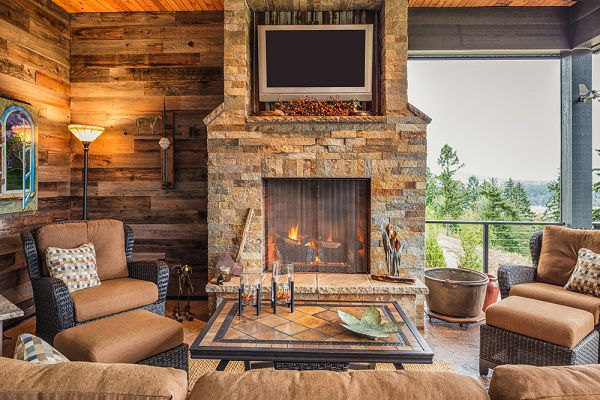 fireplace adds value to home