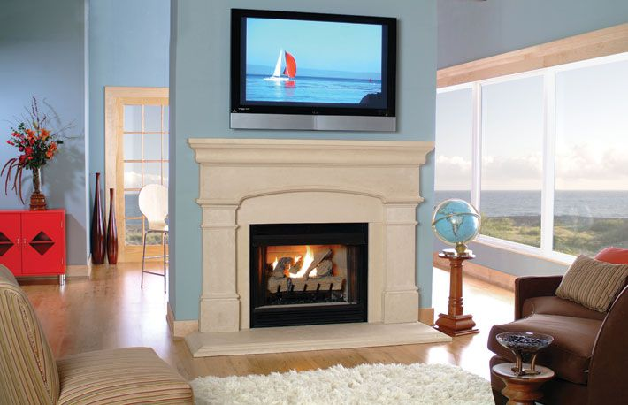 stone cast fireplace mantels