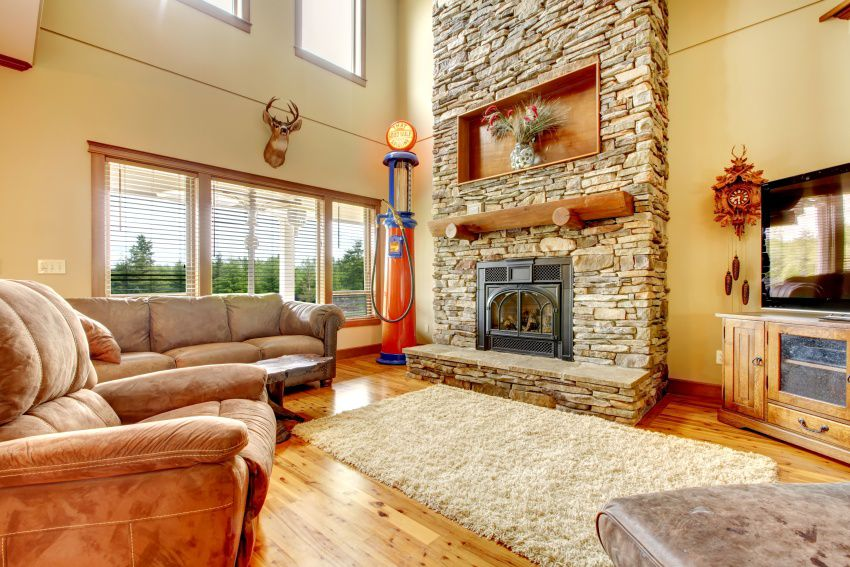 why stone fireplace