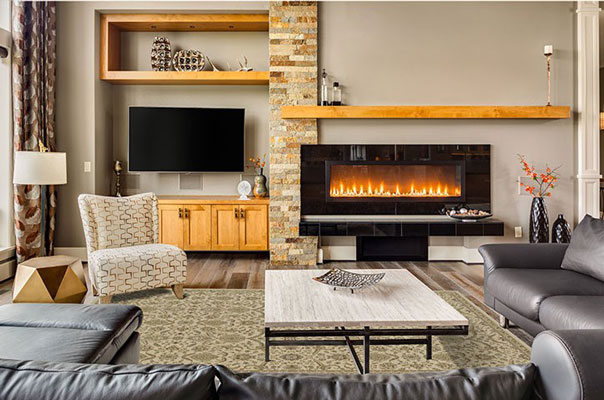 electric fireplace give off heat