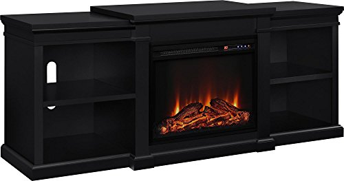 Altra Furniture Manchester TV Stand with Fireplace, 70