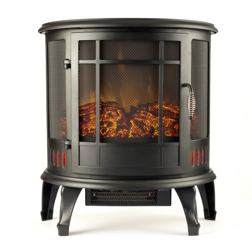 Regal Electric Fireplace - e-Flame USA 25 Inch Black Portable Electric Fireplace Stove
