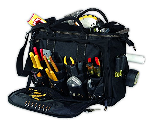Custom Leathercraft 1539 Multi Compartment 50 Pocket Tool Bag Review