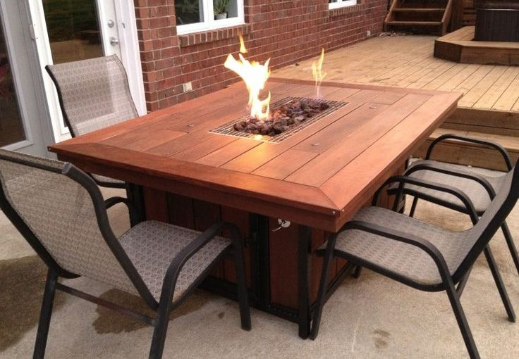 propane fire pit with table