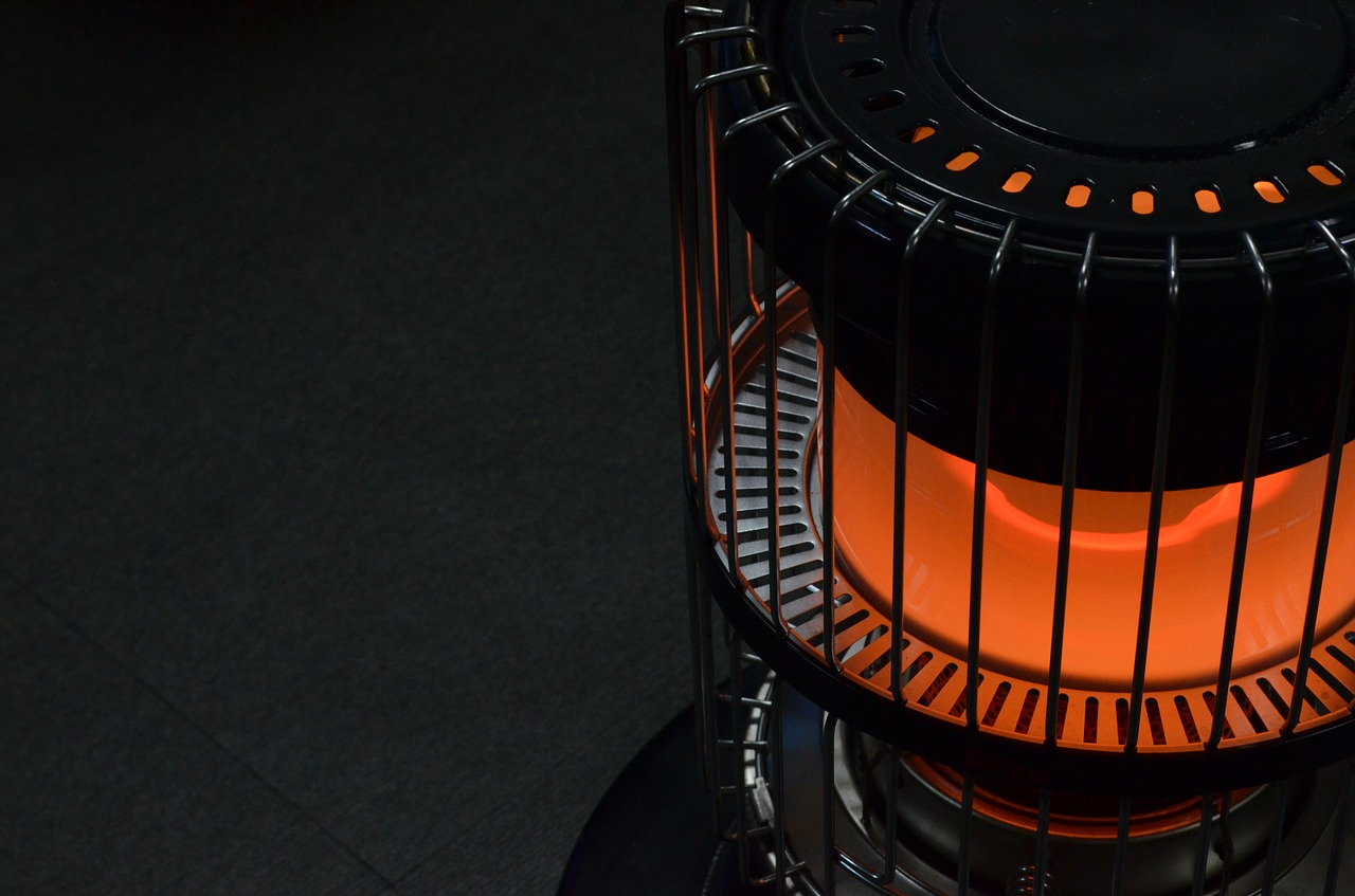 Close-up photo of a heater