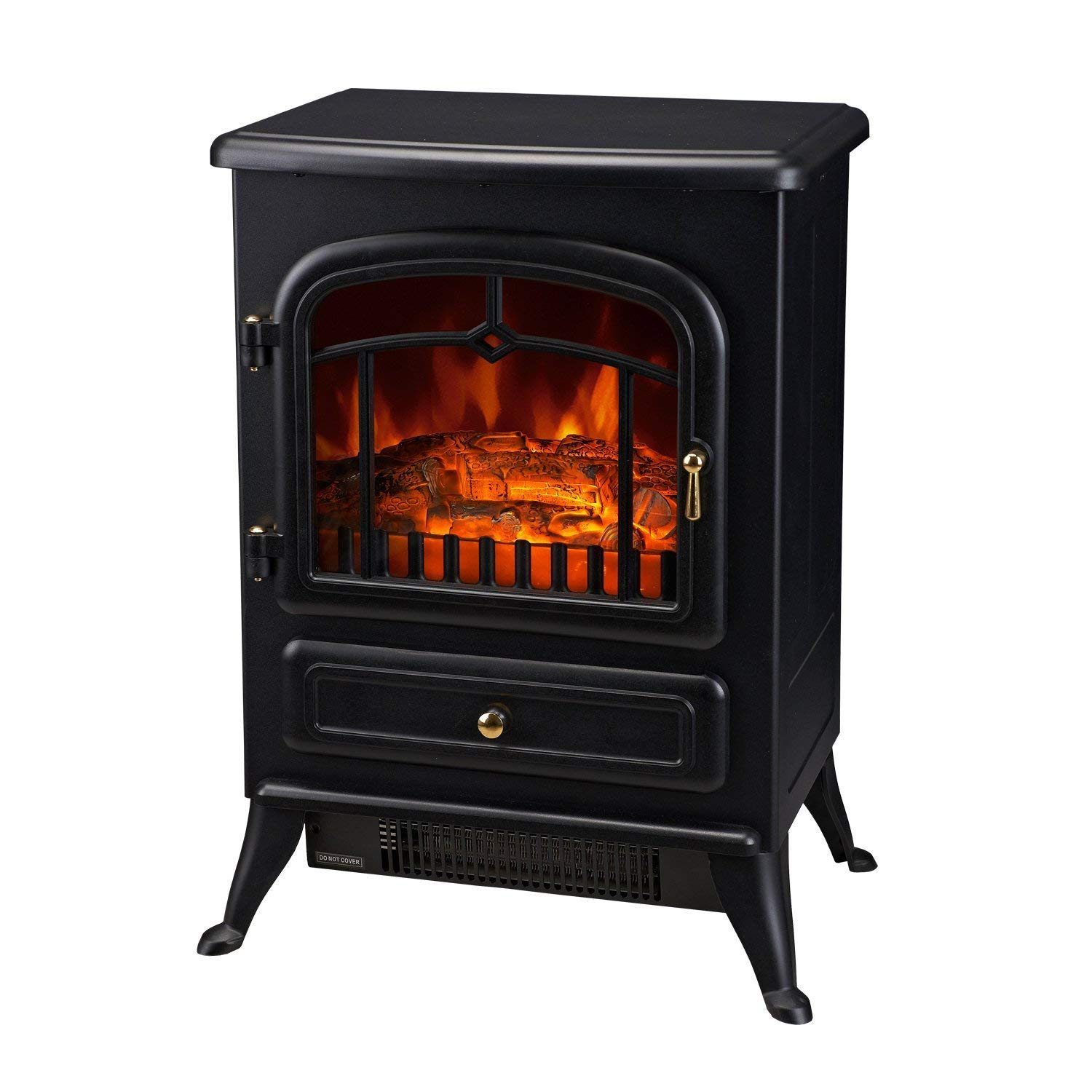 HomCom 16 1500W Free Standing Electric Wood Stove Fireplace Heater